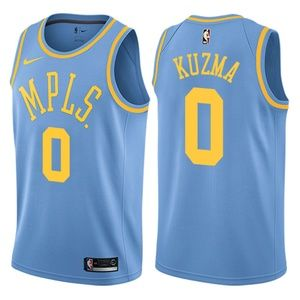 Los Angeles Lakers Kyle Kuzma Blue Jersey